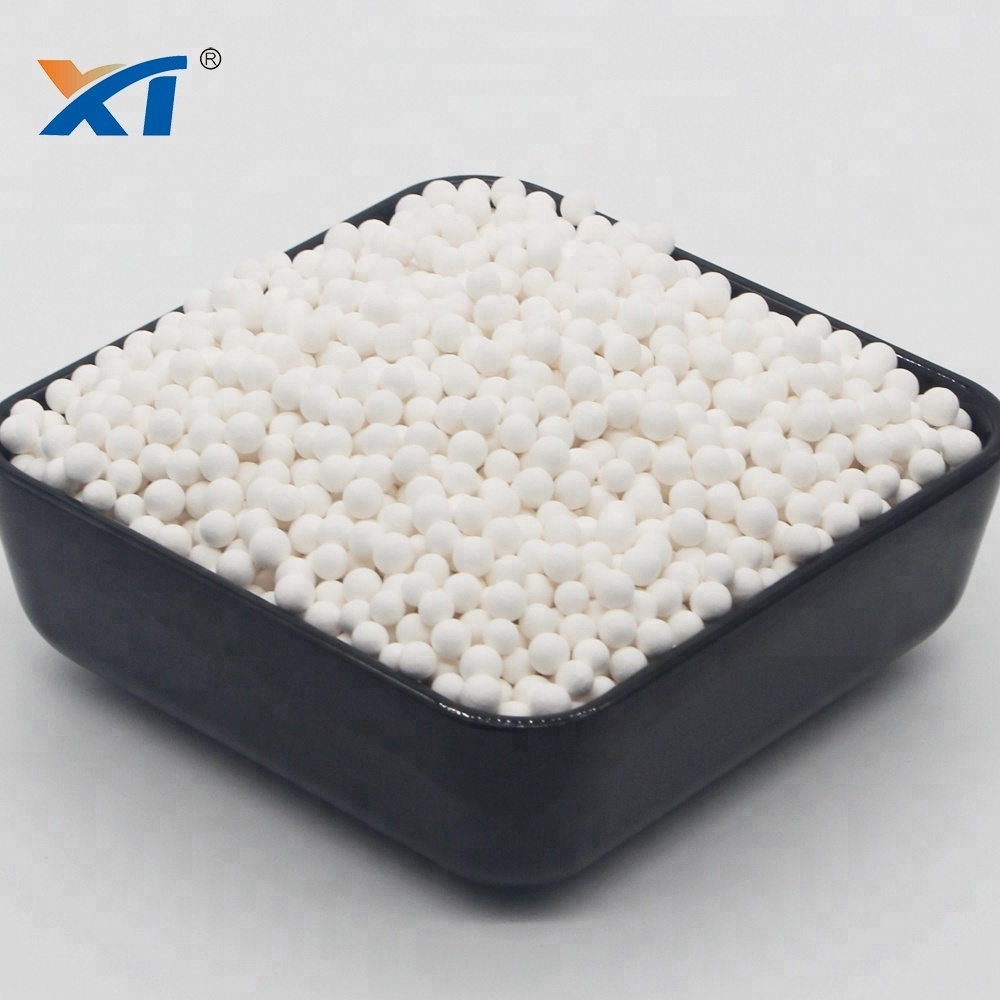 Customized catalyst activated alumina ball as desiccating agent
