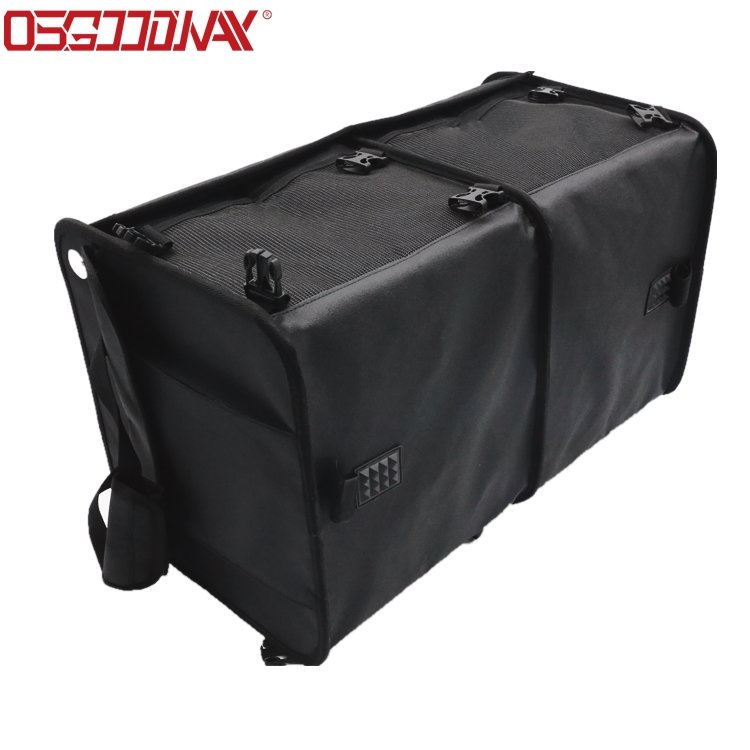 product-Osgoodway1 Cheaper Foldable 3 Compartment Storage Basket BoxCarOrganizer Bag with Cooler Bag-1