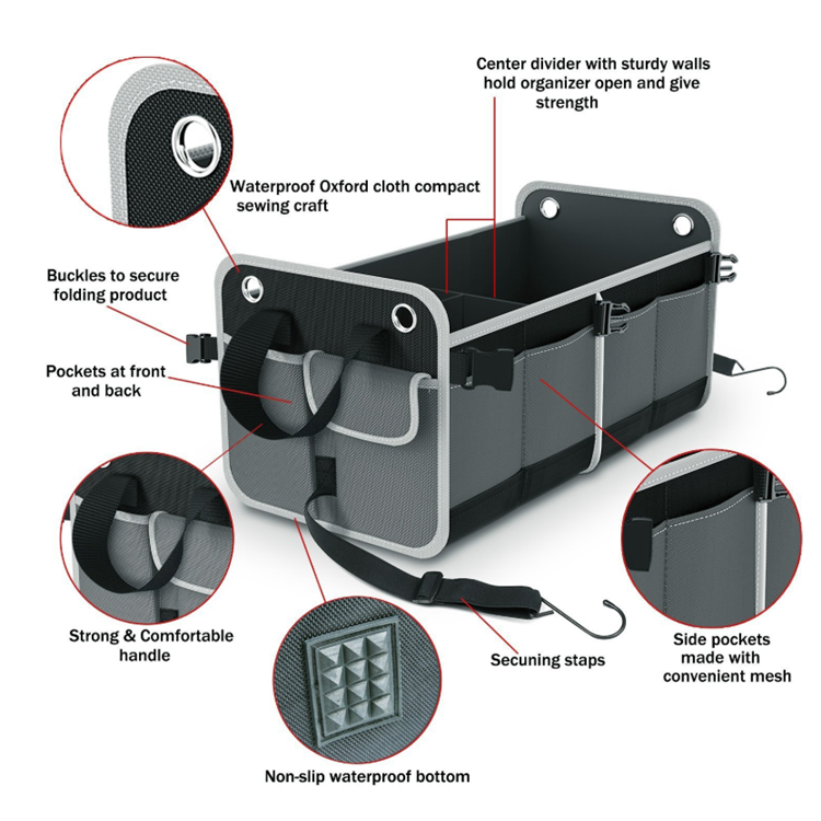 product-Osgoodway-Osgoodway New High Quality Custom Wholesale Large Auto Collapsible 2 Compartment L