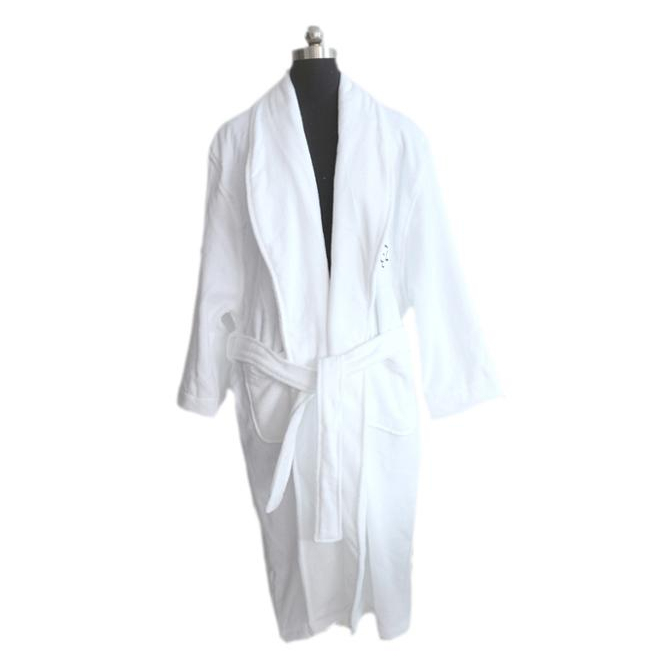 100% Cotton White Color Terry Bathrobe Hotel For Men And Women China Manufacturer