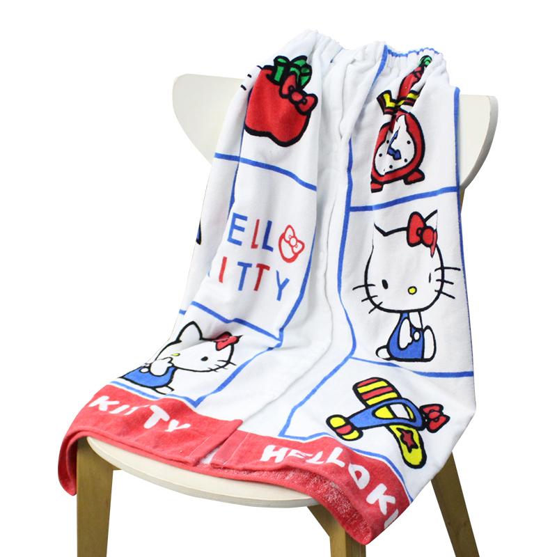 China factory Custom Hellokity pattern design Soft Sexy Printed Bath Towel Dress Bath skirt/bathrobe