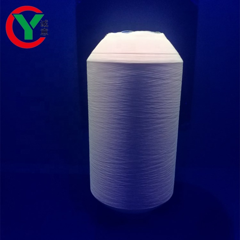 glow yarn suppliers polyester textured noctilucent dty yarn