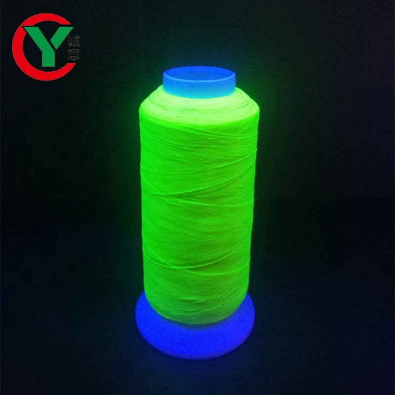 High quality polyester 150D/2 glow in the dark embroidery thread