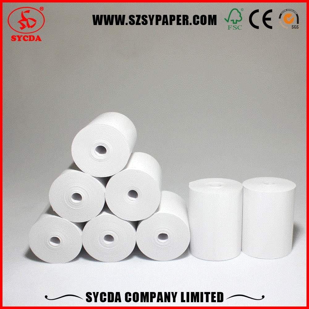 China Thermal POS Roll Thermal Paper Receipt Roll 80*80 Without Core Manufacturer