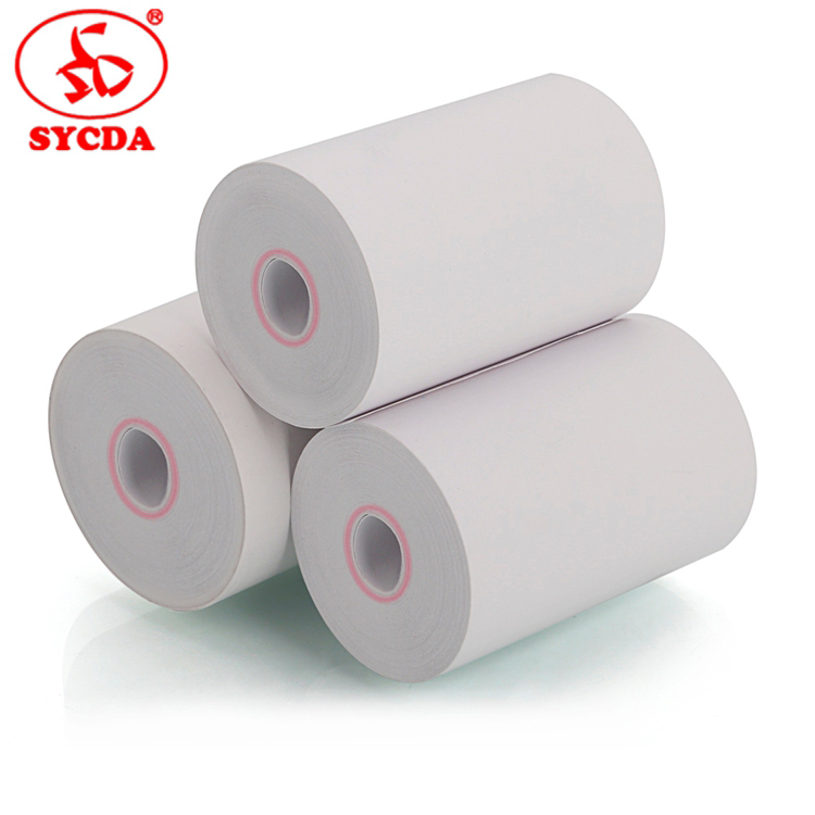 customized size thermal papers coating atm cash register thermal paper roll without core