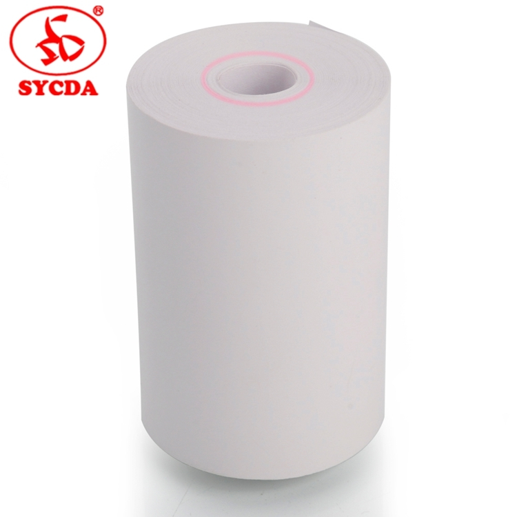 58mm cash register roll top coated thermal paper without core on delivery