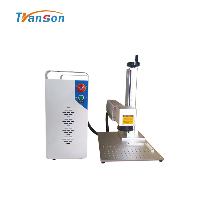 Mini 50w fiber laser marking machine for color