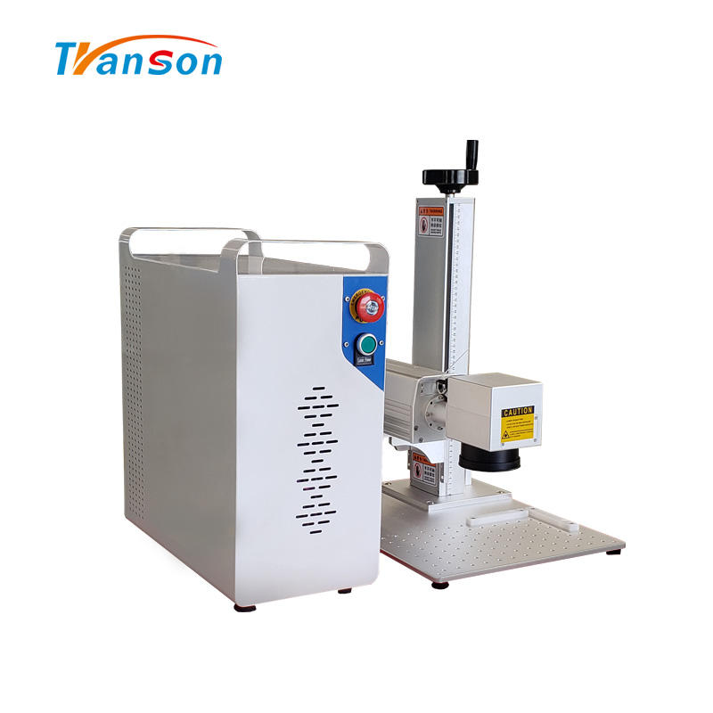 50w Panel Beating Shell Mini Fiber Laser Marking And EngravingMachine For Metal