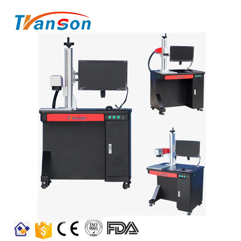 CNC 30W Metal Desktop Fiber Laser Marking Machines For Metal/Plastic/ABS/PVC/Steel With Amazing Laser Effect