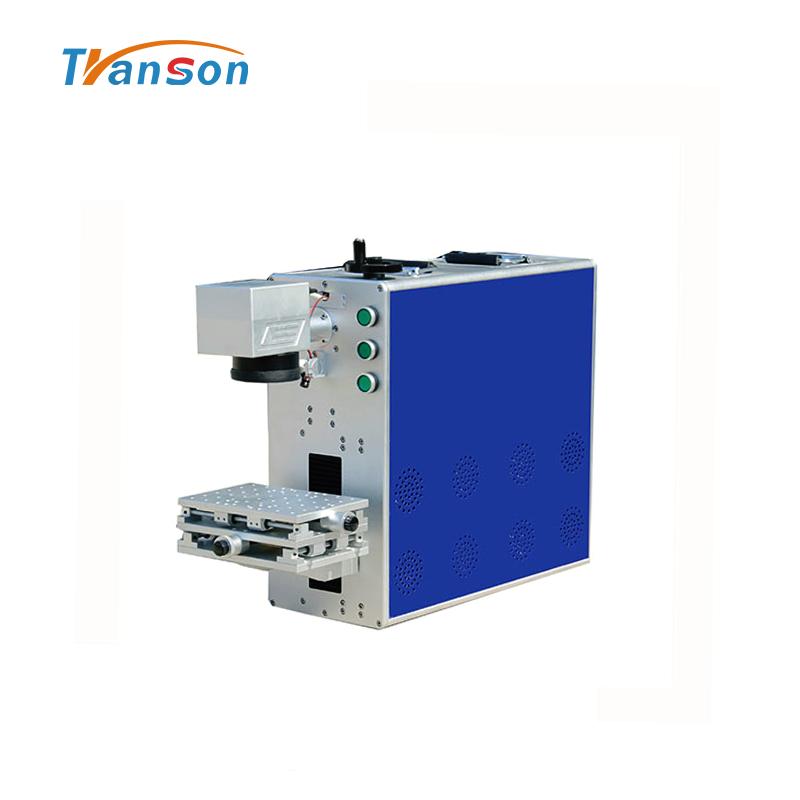 20W 30W Mini Portable Fiber Laser Printer Laser Marking Engraving Machine For Steel