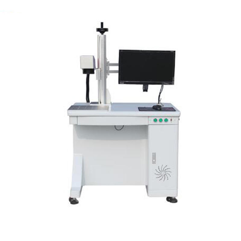 20W white Metal Desktop Fiber Laser Marking Machines For Metal and nonmetal