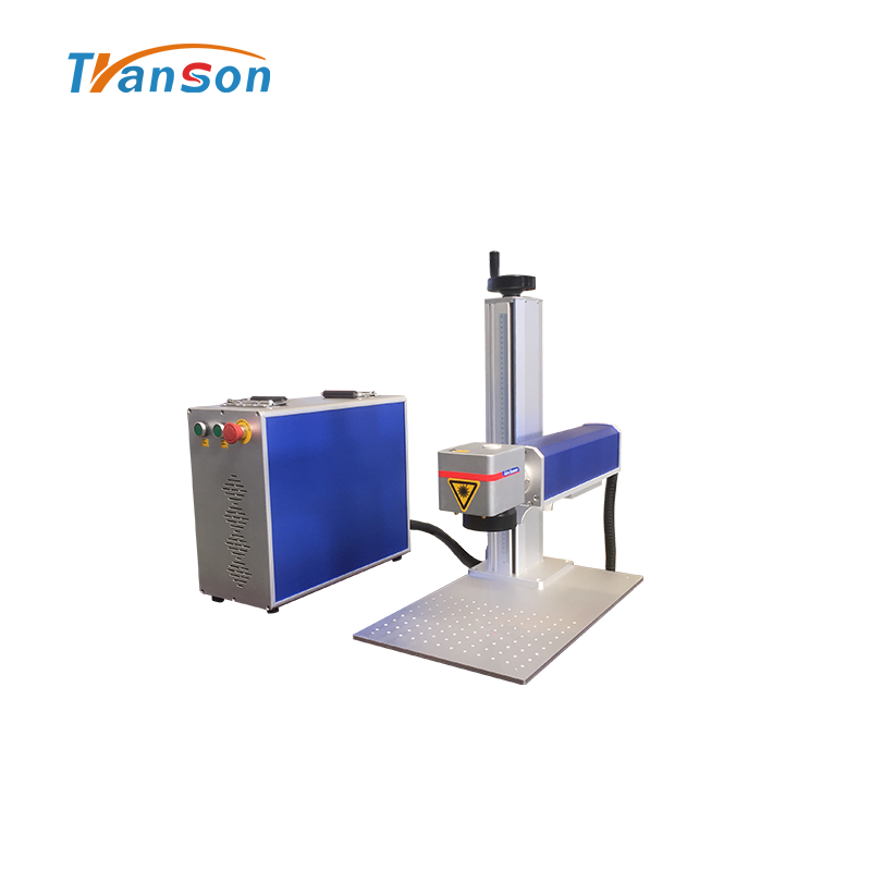 Economical split mini fiber laser marking machine for metal