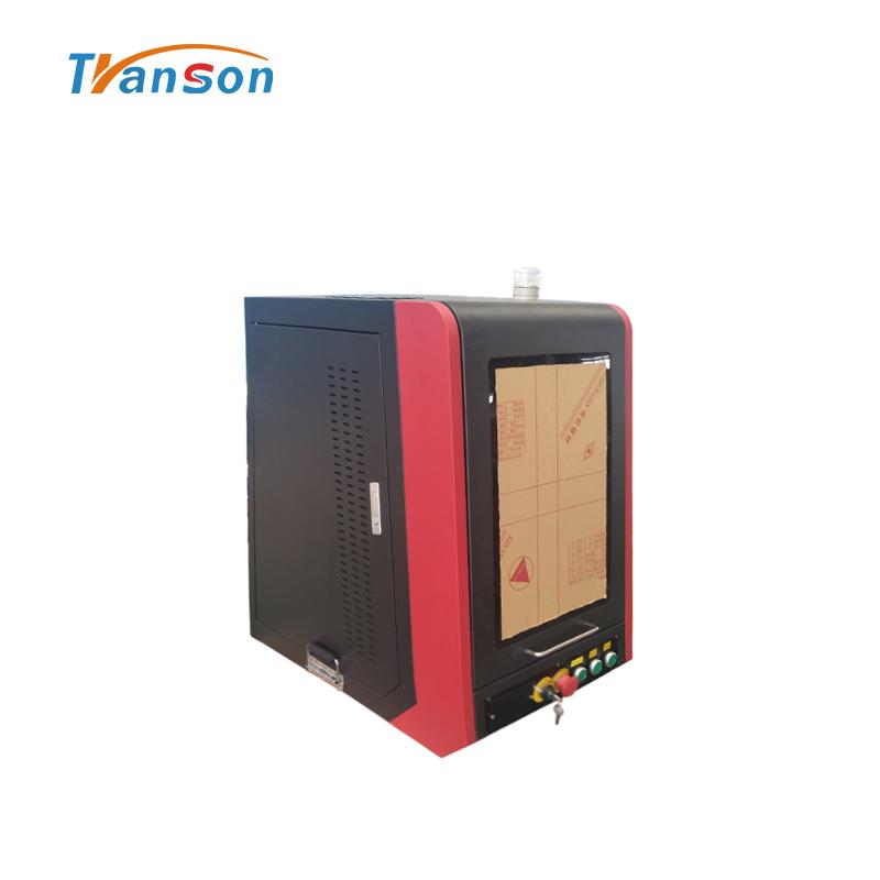 50w Fiber Laser Marking Machine Mini Enclosed BJJCZ Control System Transon