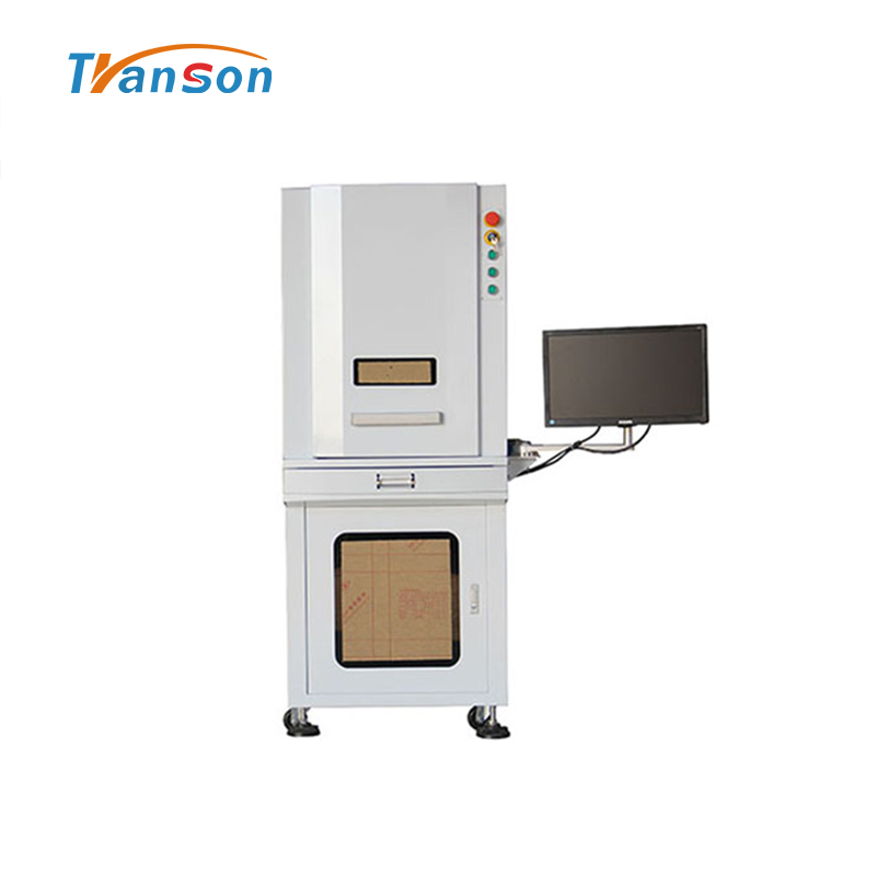30W Full Enclosed 3D Fiber Laser Engraver Marking Machine raycus source for gold silver