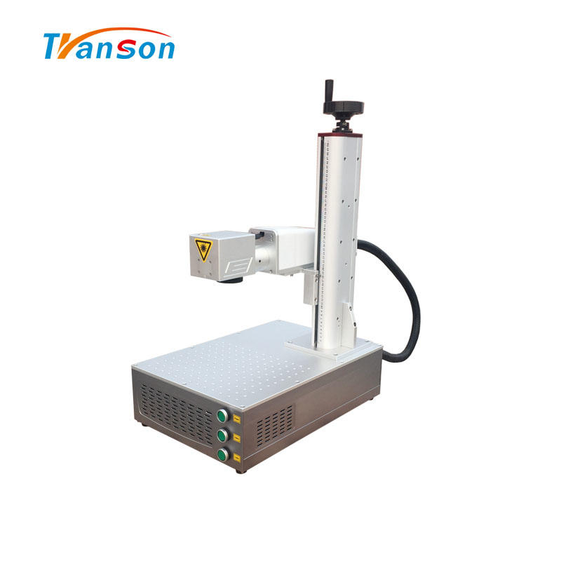20W Mini Fiber Laser Marking Machine For Metal Aluminum Steel Brass Silver Mild Steel