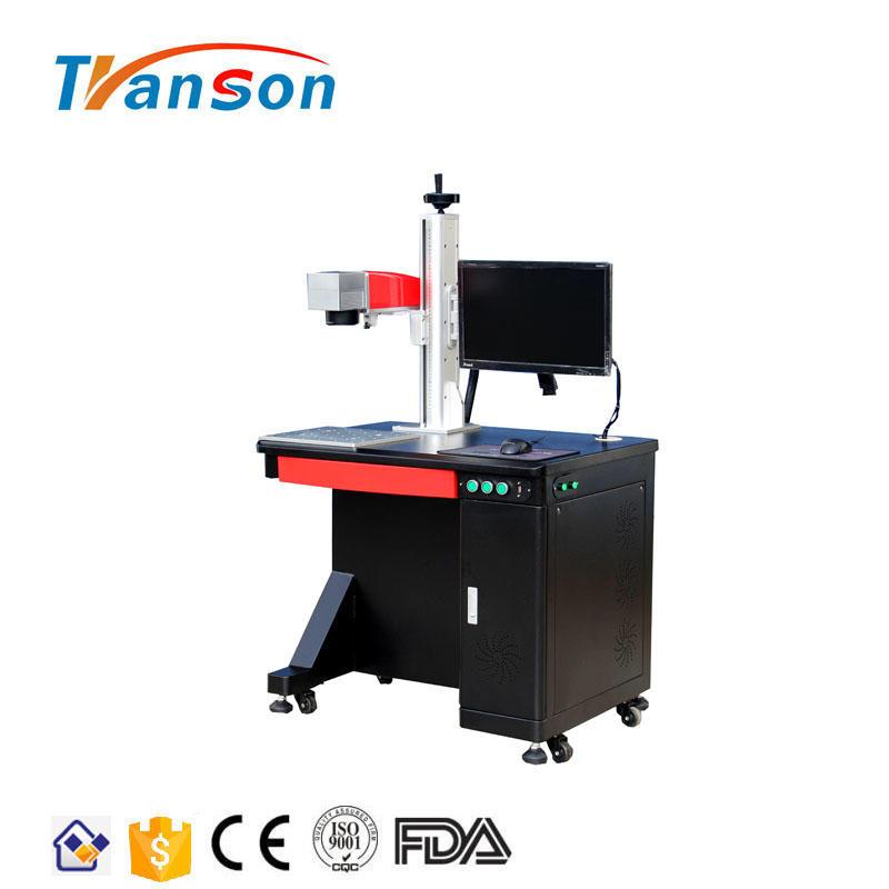 100W black Metal Desktop Fiber Laser Marking Machines For Metal and nonmetal