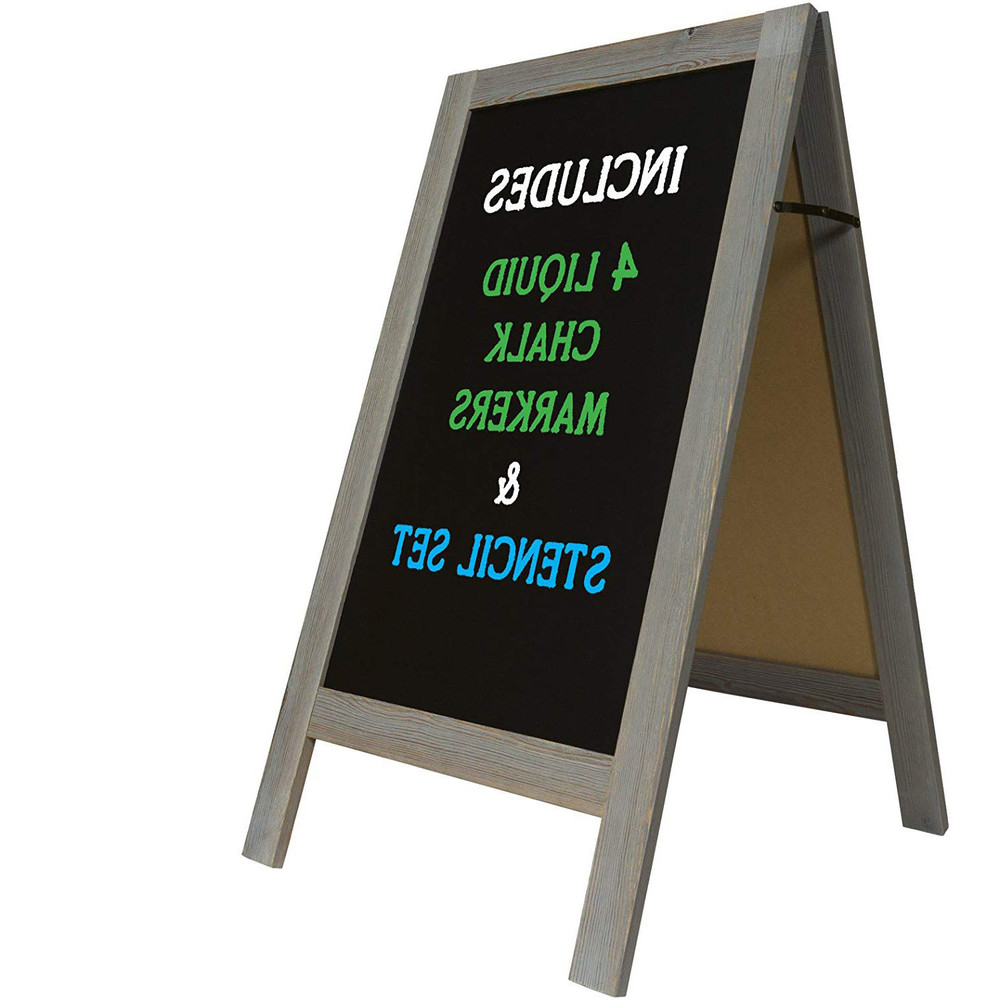Low Price Simple Useful Wind Resistant Wooden Blackboard With Stand