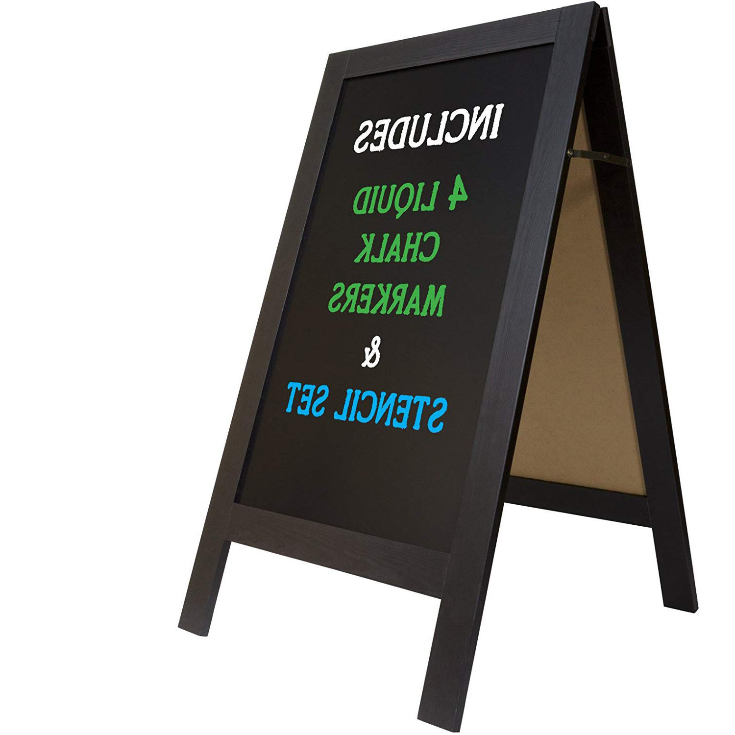 Perfect Indoor Outdoor Use Wooden Blackboard Stand For Artsy Signs