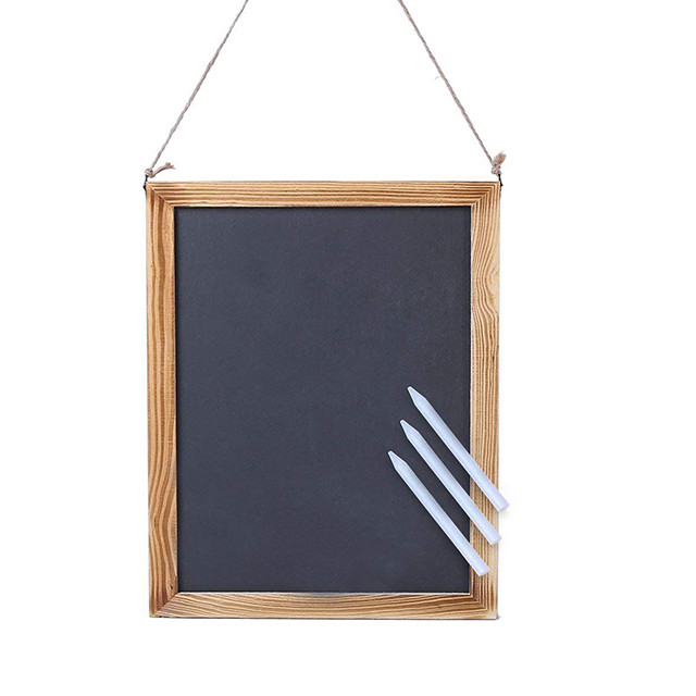 Hot sales restaurant chalk board with hemp string for hanging