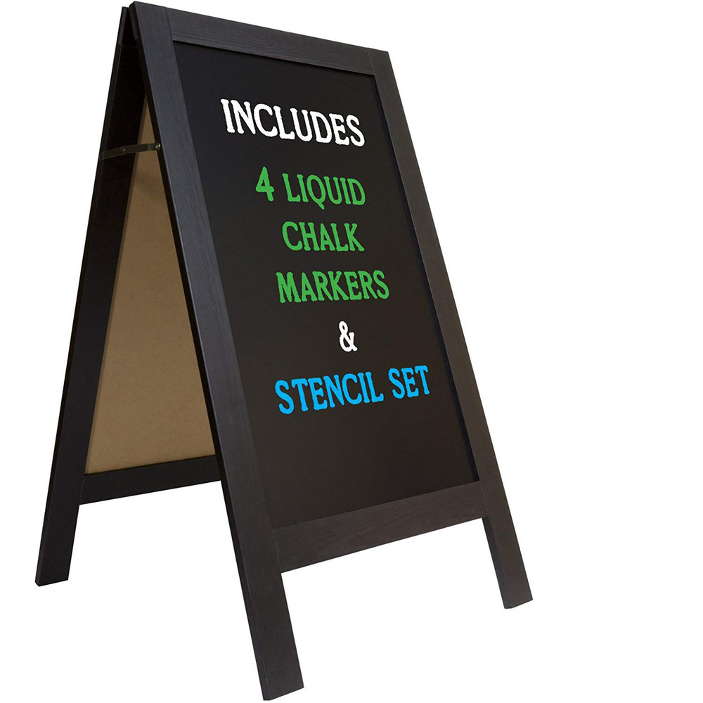 Simple useful style Wood Frame Chalk Blackboard For Menus