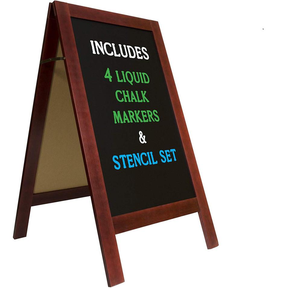 Solid Wood Frame Heavier Grade Useful Wood Children movable Blackboard