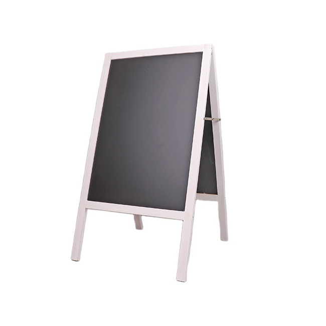 New design simple useful outdoor A wooden blackboard with stand