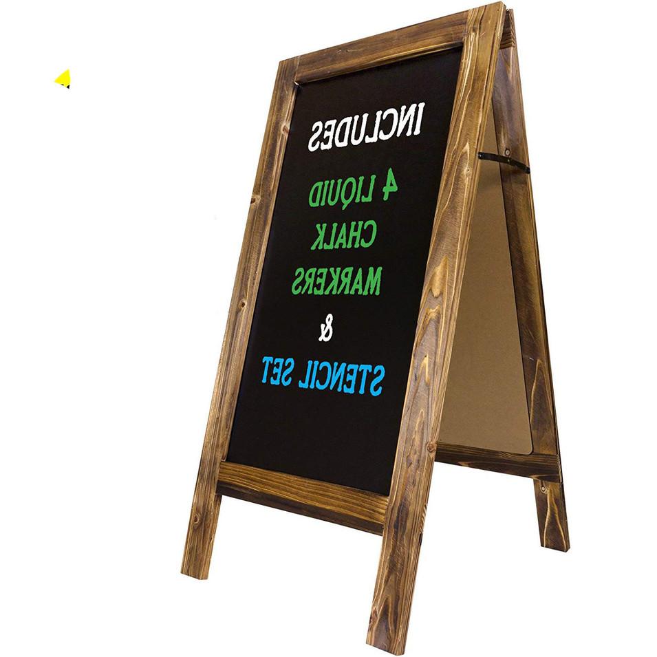 Solid Wood Frame Foldable Blackboard For Restaurant/Bar/Cafe/Store