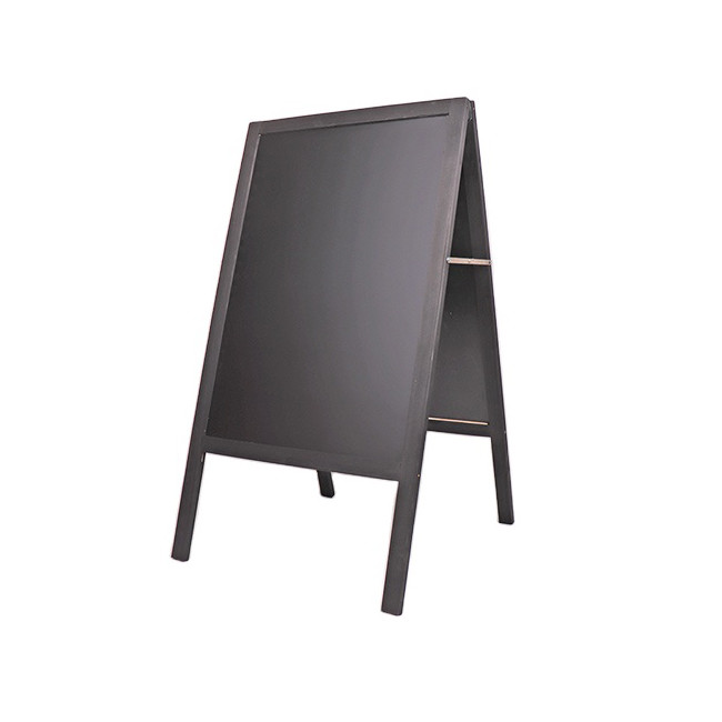 Standing folding rustic wooden chalkboard blackboard frame for bar