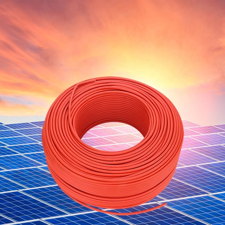 6mm Red black Solar Cable 1800V DC Rated PV Panel Wire - Sold by 1 Meter