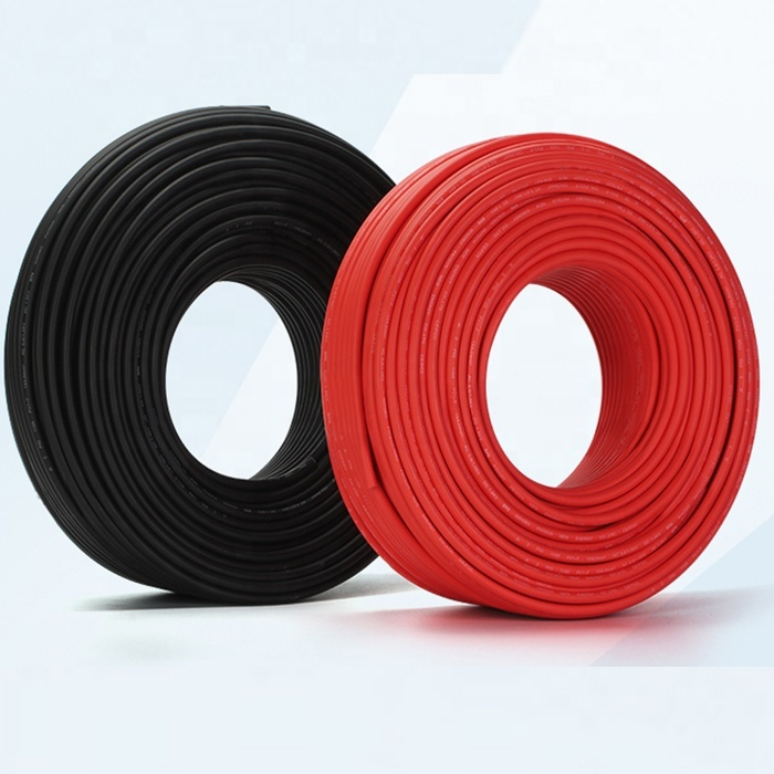 Guangdong cable factory manufactured 4mm 6mm 10mm 16mmH1Z2Z2-K EN50618 DC Solar Cable for sale