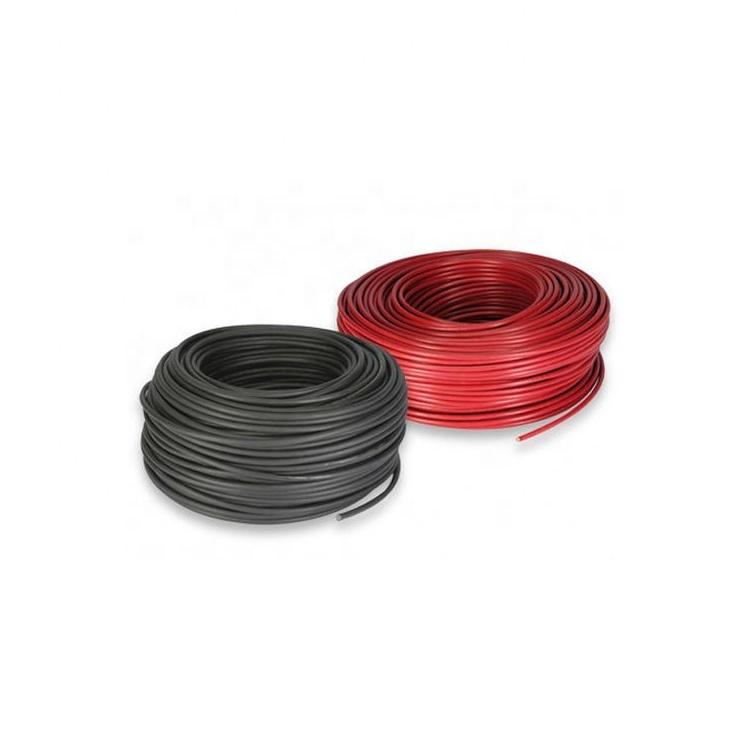 2020 Guangdong cable factory 6mm Red black Solar Cable 1800V DC 8 awg xlpe solar cable