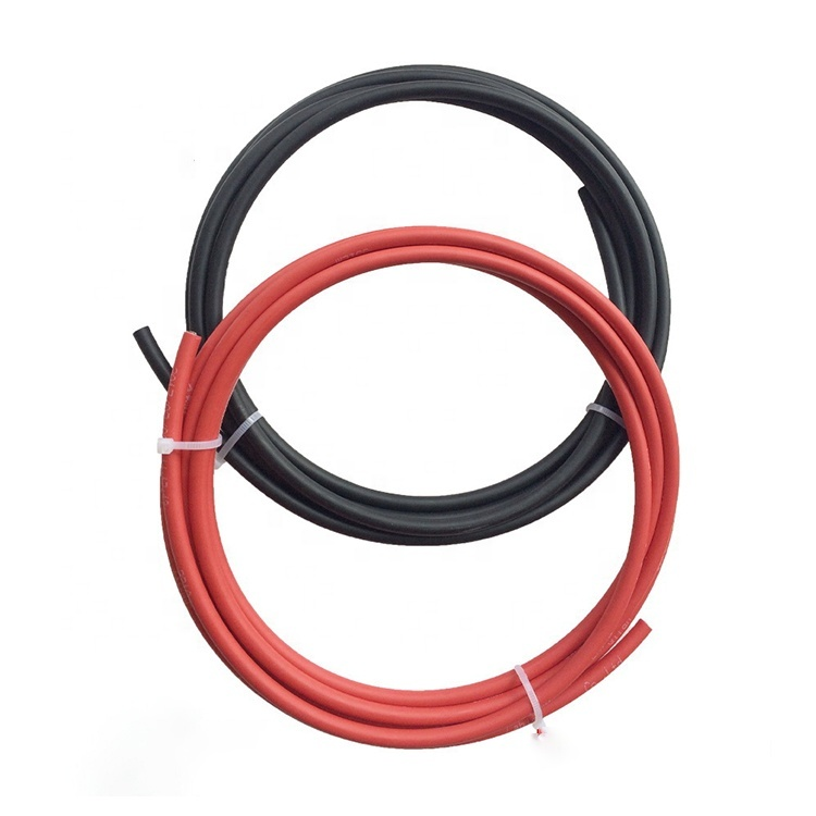 H1Z2Z2-K EN50618 1500V DC Solar cableRed 6mm PV1-F for solar panel collecting solar cable wire