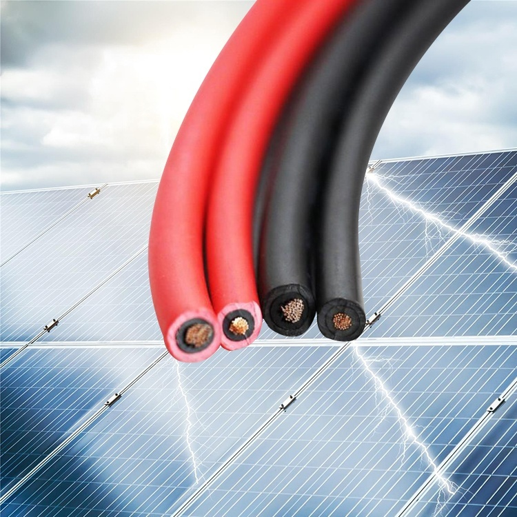 Guangdong cable factory direct saleXLPE Black Halogen-free Flexible Solar copper Cable Metric Cables