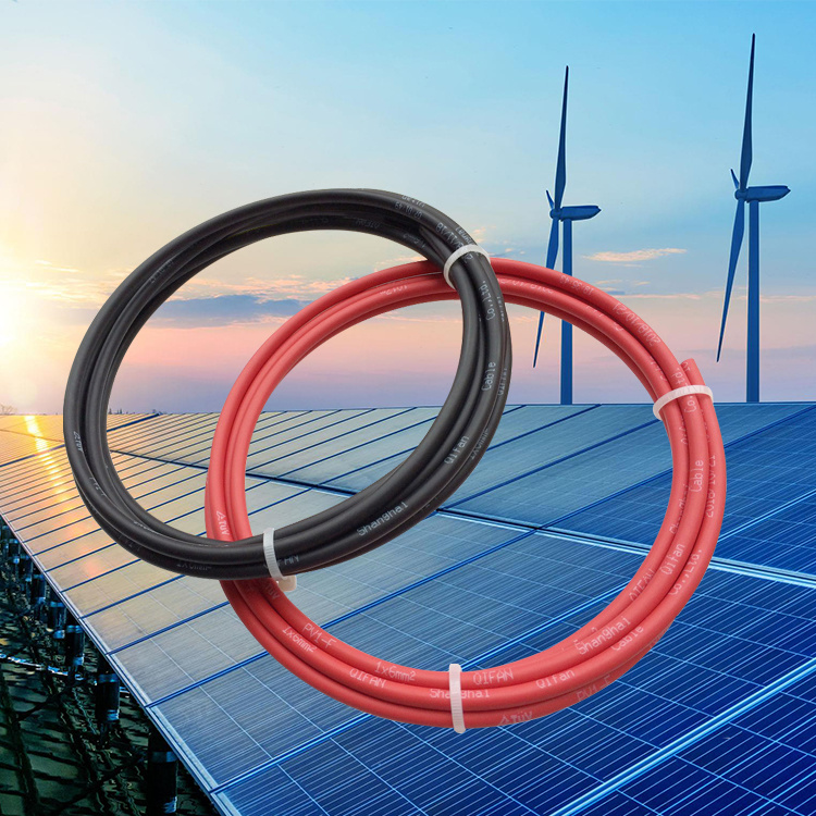 Guangdong cable factory 6mm 4 core flexible submersible cable solar energy system cable for sale