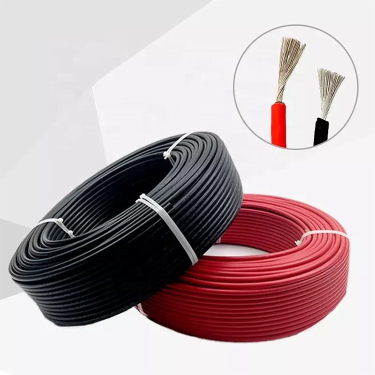2020 UV protective solar cable Red 6mm PV1-F solar energy system cable for sale