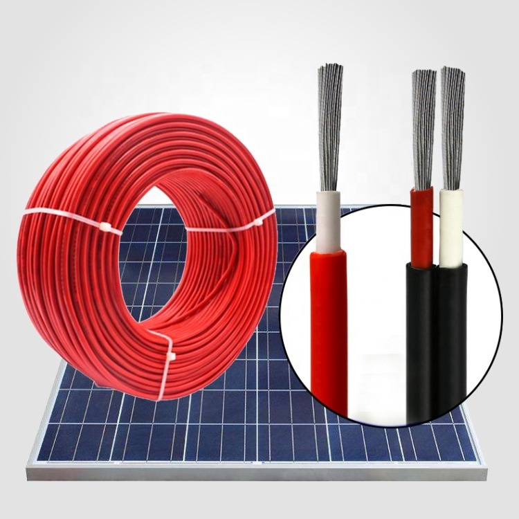 Good sale 600-1000v dual core solar cable solar dc cable 1c x 4 sq.mm 8mm solar cable