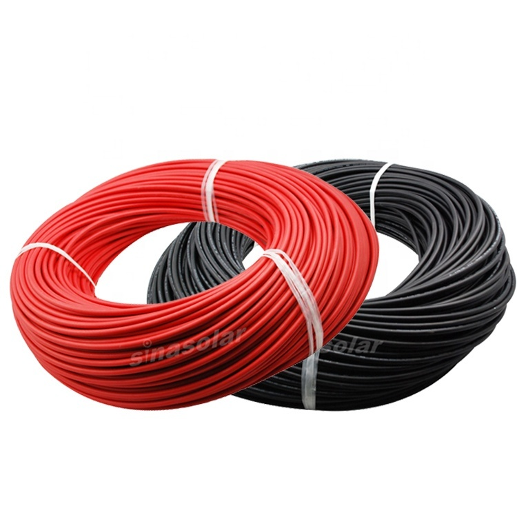 H1Z2Z2-K EN50618 1500V DC Solar cableRed 6mm 120mm2 Rubber Insulated cable solar pv wire