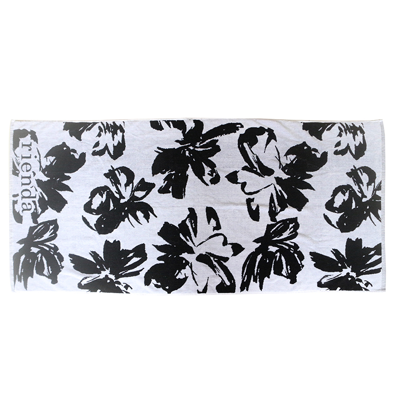 Customized logo double-sided cotton jacquard bath towel