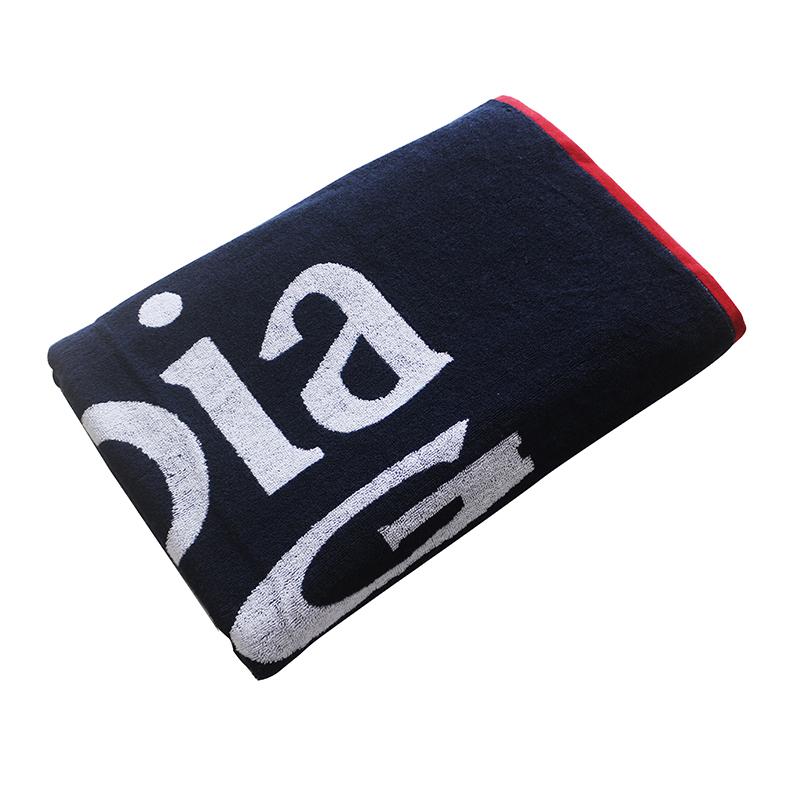Customizable logo cotton double-sided jacquard beach towel