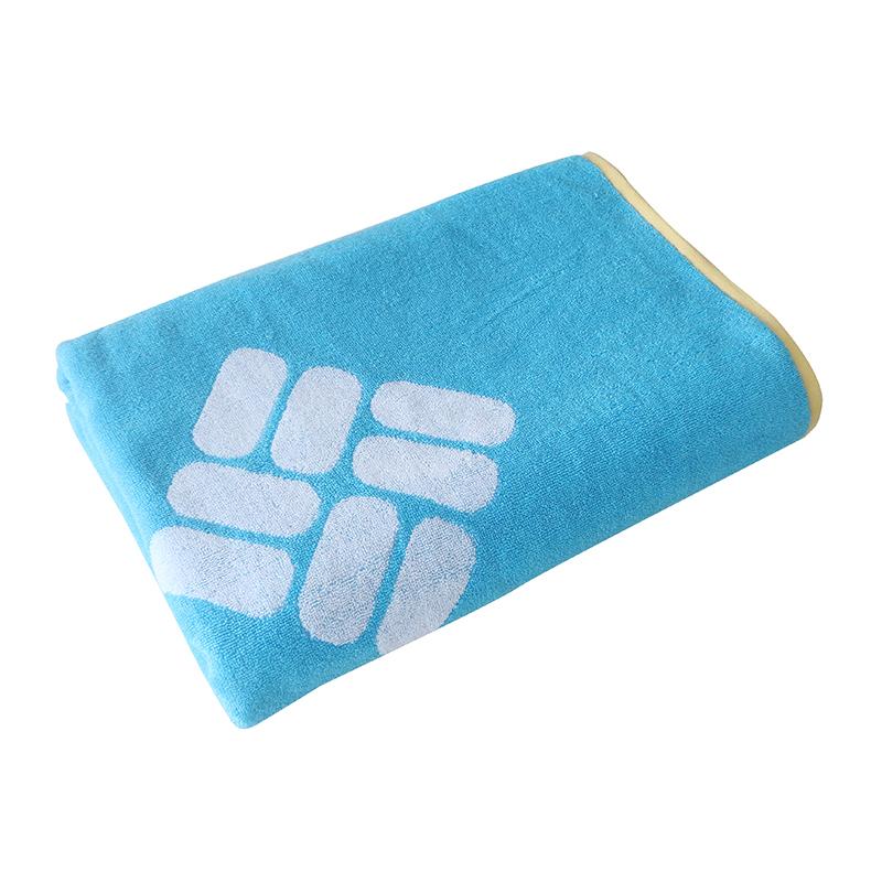 Customizable logo cotton double-sided jacquard bath towel for sweat absorption