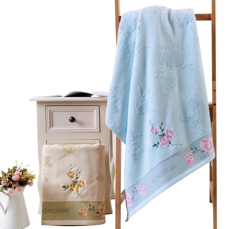 Super Soft 100% Cotton Jacquard Plain Dyed Bath Shower Towel 70x140 cm