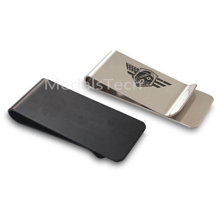 Wholesale custom logo 304 blank stainless steel metal money clip wallet for sale