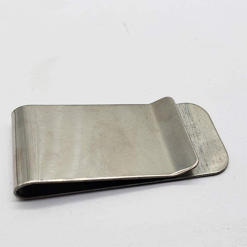 High quality gold plating craft blank hinged custom money clip