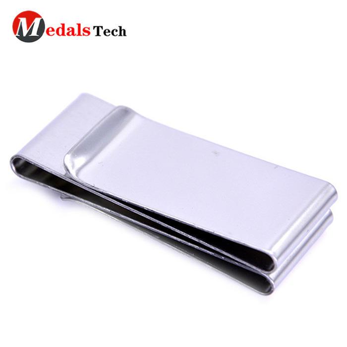 Cheap money clip custom double 304 stainless steel metal blank money clip