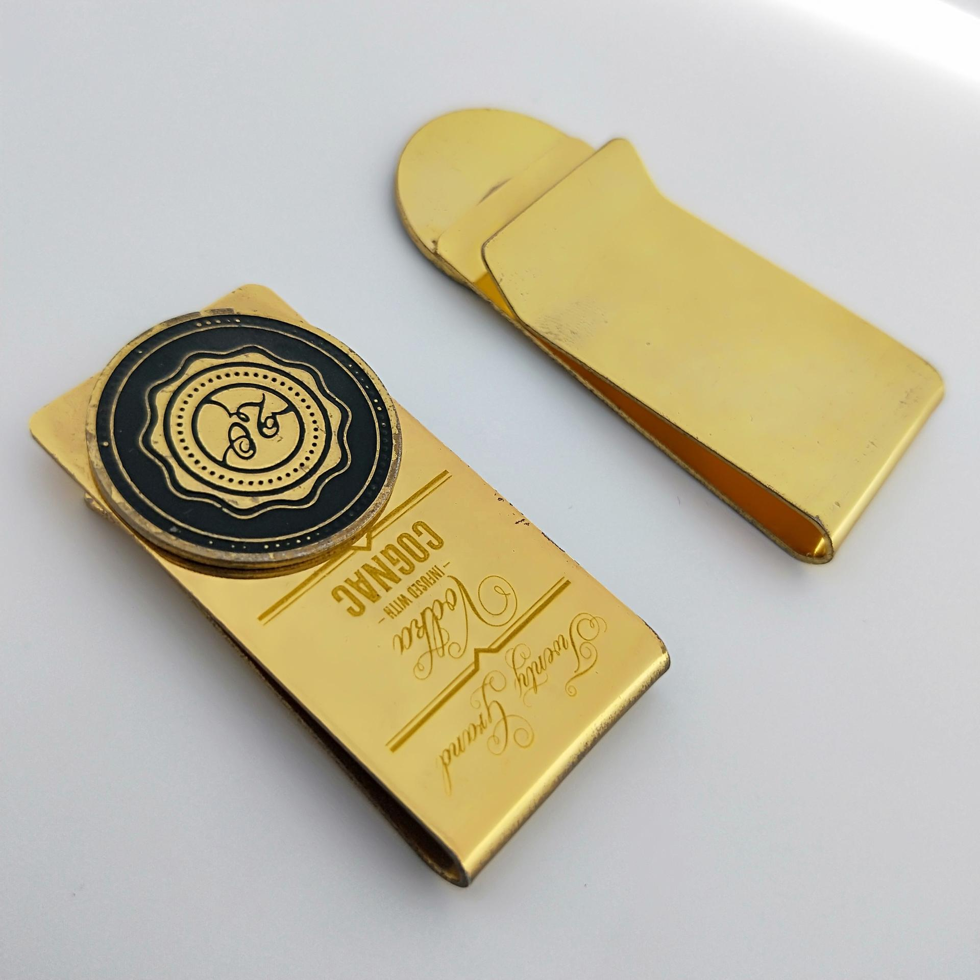 No MOQ customized unique cool men's money clip for police