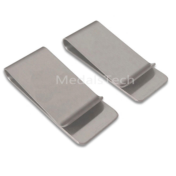 Antique silver unique personalized 304 stainless steel money clip wallet with soft enamel filled