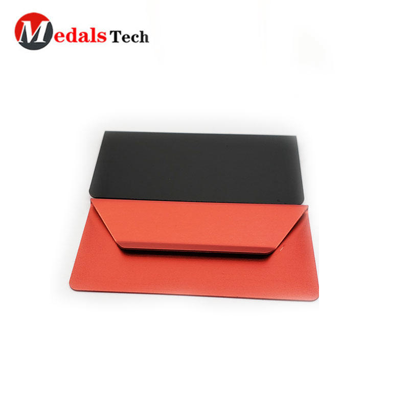 Cheap colorful silk screen printing blank anodized aluminum money clip for promotion