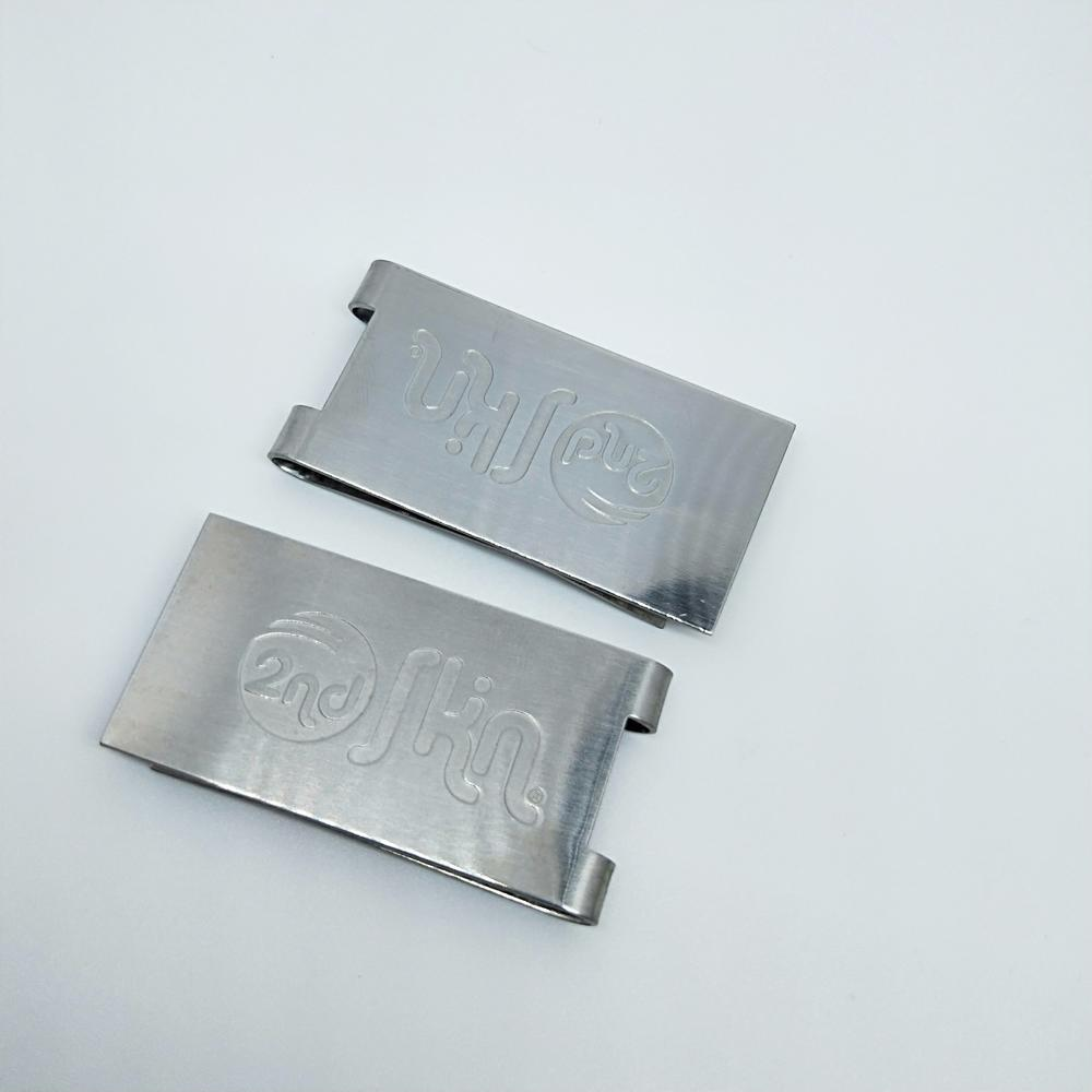 Wholesale customized stainless steel metal money clip credit card holder