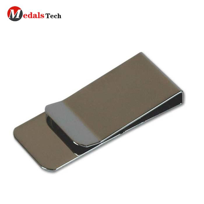Factory price custom letterpress printing fold mini metal money clips wholesale for men