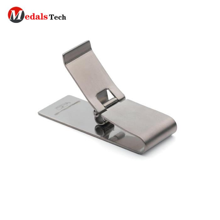 Wholesale custom 304 blank adjustable design small money clip leather